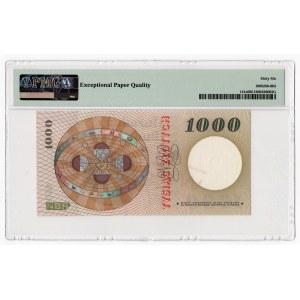 WZÓR - 1.000 złotych 1965 - seria S - PMG 66 EPQ