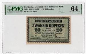 Poznań - 20 kopiejek 1916 - PMG 64