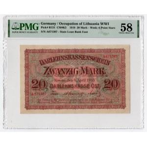 KOWNO - 20 Marek 1918 - seria A - PMG 58