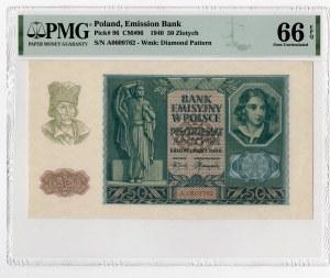 50 złotych 1940 -seria A - PMG 66 EPQ