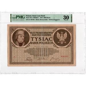 1.000 marek polskich 1919 - Seria I.A - PMG 30 - RZADKA