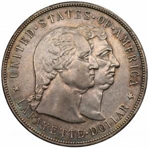 USA - Dolar Lafayette 1900 - Akt erekcyjny pomnika Lafayette - RZADKA