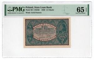 1/2 marki 1920 - PMG 65 EPQ