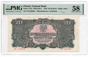20 złotych 1944 ...owe - PMG 58