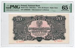 20 złotych 1944, ....owe, - PMG 65