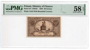 20 groszy 1924, - PMG 58 EPQ