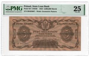 5.000.000 marek polskich 1923, - PMG 25