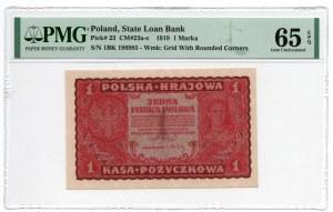 1 marka 1919, - PMG 65 EPQ