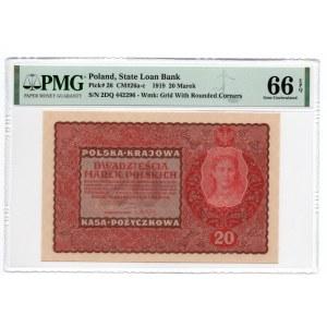 20 marek 1919, - PMG 66 EPQ