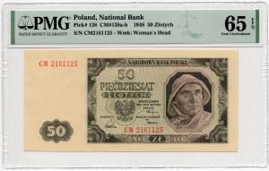 50 złotych 1948 - seria CM - PMG 65 EPQ