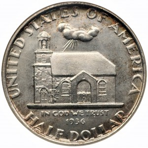 USA - 1/2 dolara 1936 - 300 rocznica Delaware - NGC MS64