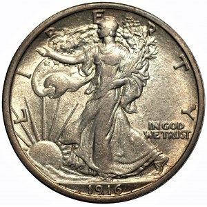 USA - 1/2 dolara 1916 - Filadelfia - Walking Liberty