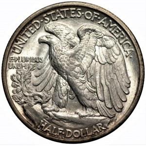 USA - 1/2 dolara 1917 - Filadelfia - Walking Liberty