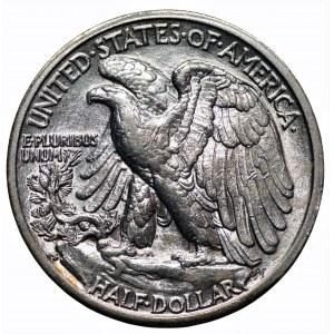 USA - 1/2 dolara 1929 - (S) San Francisco - Walking Liberty
