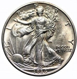 USA - 1/2 dolara 1936 - (D) Denver - Walking Liberty