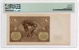 10 złotych 1940 - seria L. - PMG 64