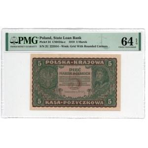 5 Marek 1919 - II Serja U - PMG 64 EPQ