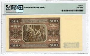 500 złotych 1948 - seria CC - PMG 66 EPQ
