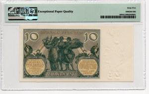 10 złotych 1929 - seria FJ - PMG 65 EPQ