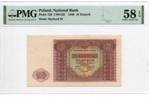10 złotych 1946 - PMG 58 EPQ