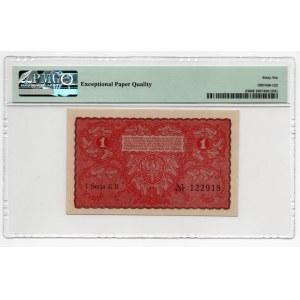 1 marka 1919, seria I KB - PMG 66 EPQ