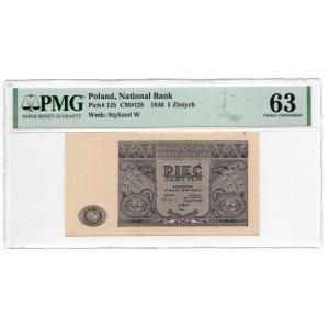 5 złotych 1946 - PMG 63 EPQ