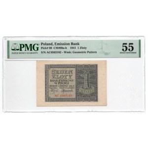 1 złoty 1941 - seria AC - PMG 55