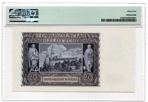 20 złotych 1940 - seria K - PMG 64