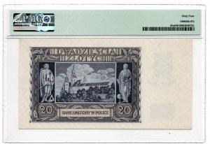 20 złotych 1940 - seria N - PMG 64