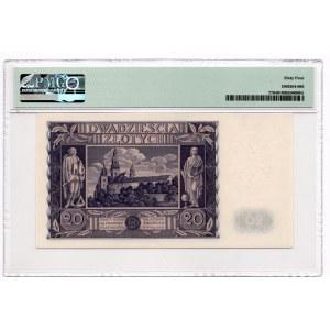 20 złotych 1936 - seria CI - PMG 64