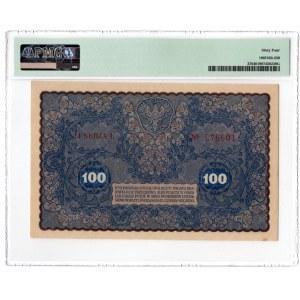 100 marek 1919 - IJ Serja L - PMG 64