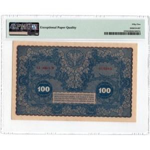 100 marek 1919 - IA Serja W - PMG 55 EPQ