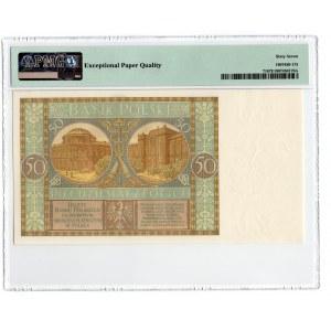 50 złotych 1929 - seria DL. - PMG 67 EPQ