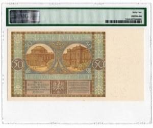 50 złotych 1929 - seria EM. - PMG 64