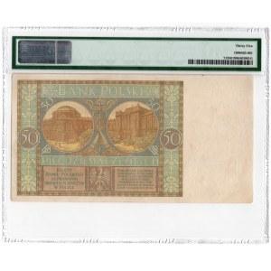 50 złotych 1929 - seria B.M. - PMG 35