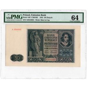 50 złotych 1941 - seria A -PMG 64