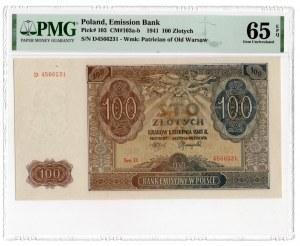 100 złotych 1941 - seria A - PMG 65 EPQ