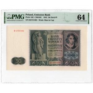 50 złotych 1941 - seria B - PMG 64