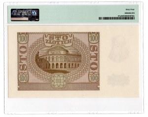 100 złotych 1940 - seria B - PMG 64