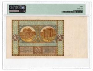 50 złotych 1929 - bez serii i numeracji - PMG 30 RZADKI