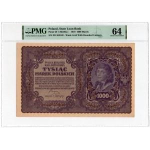 1.000 marek 1919 - II Serja D - PMG 64