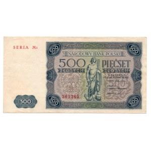 500 złotych 1947 - seria M2 - Kolekcja Lucow