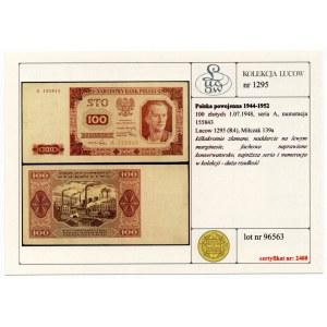 100 złotych 1948 - seria A - Kolekcja Lucow