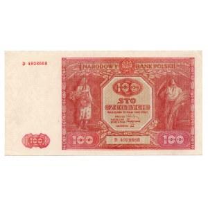 100 złotych 1946 - seria D - Kolekcja Lucow