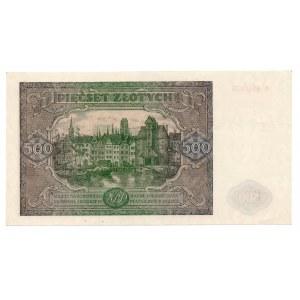 500 złotych 1946 - seria K - Kolekcja Lucow