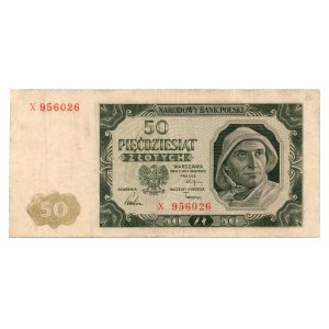 50 złotych 1948 - seria X - Kolekcja Lucow