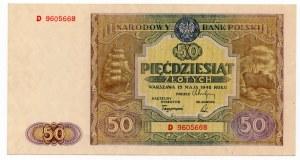 50 złotych 1946 - seria D - Kolekcja Lucow