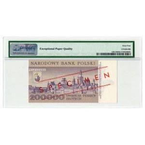 200.000 złotych 1989 WZÓR - seria A - PMG 64 EPQ