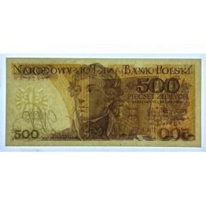 500 złotych 1974 - seria AA - GDA 68 EPQ - wyśmienita nota