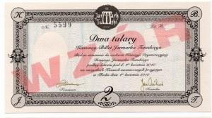 WZÓR Kassowy Bilet Jarmarku Tumskiego w Dwusetną rocznicę emisji Biletów Kasowych - 1,2 i 5 talarów 2010